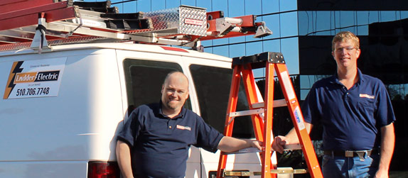 Electricians Troy and Andy
